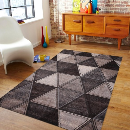 Grey and Brown Geometric Shapes