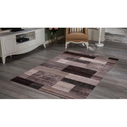 Grey and Dark Brown Checkered Pattern
