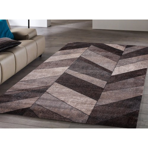 Grey and Brown on Chevron Pattern