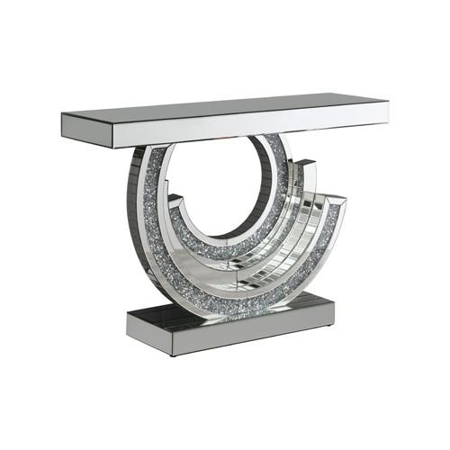 Multi-Dimensional Console Table Silver