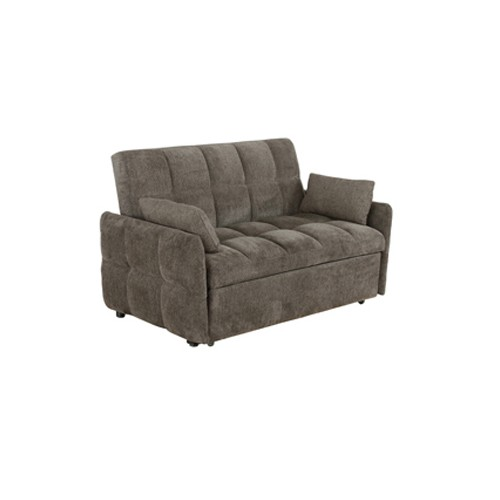 Cotswold Tufted Cushion Sleeper Sofa Bed Brown