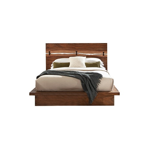 Winslow Eastern King Bed Smokey Walnut And Coffee Bean