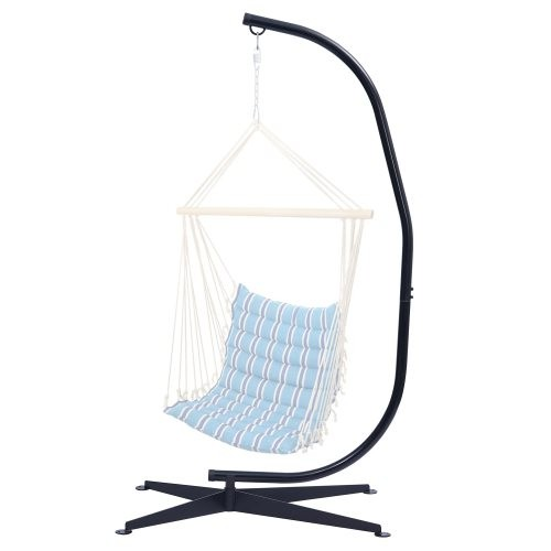 Hammock Chair Stand Only - Metal C-Stand for Hanging Hammock Chair,Porch Swing - Indoor or Outdoor Use - Durable 300 Pound Capac