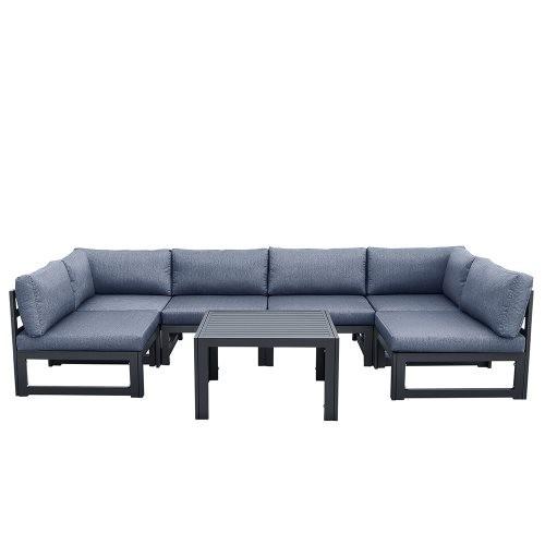 Outdoor sofa 6 pieces+coffee table