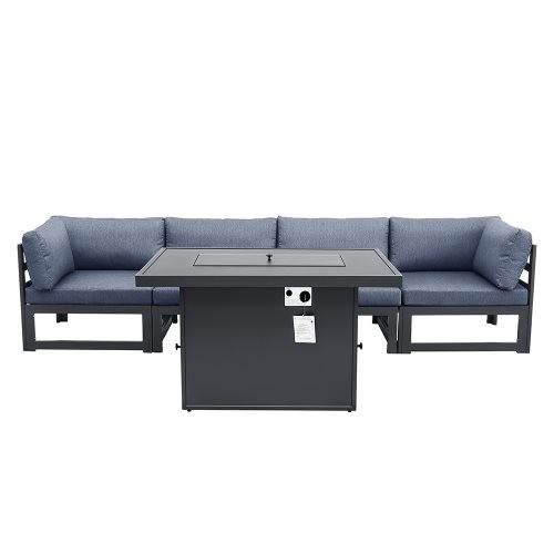 Outdoor sofa 4 pieces+fire table