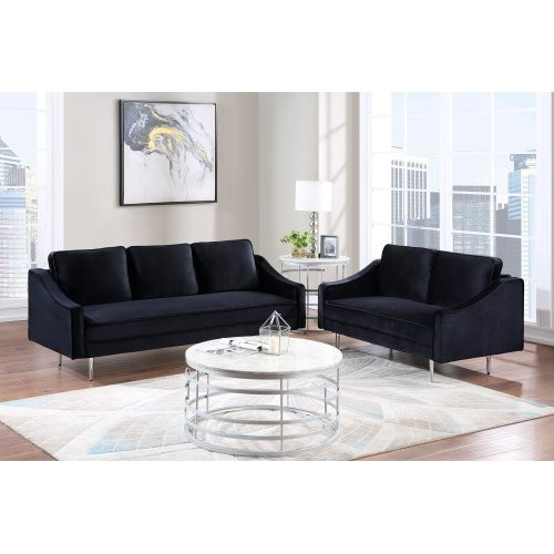 Orisfur. 3 Piece Sofa Set Morden Style Couch Furniture Upholstered Armchair, Loveseat and Three Seat for Home or Office (2+3 Sea