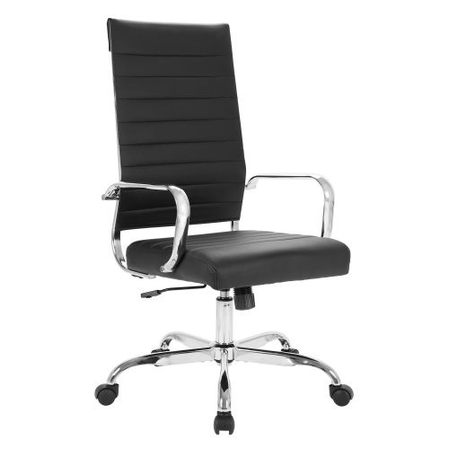 Home Office Chair PU Leather High Back Executive Desk Chair Blakc 9506BLK W553