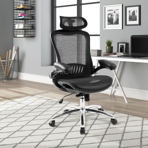 Office Chair ——Ergonomic Mesh Chair Computer Chair Home Executive Desk Chair Comfortable Reclining Swivel Chair High Back with W