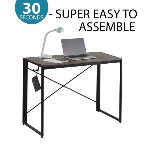 Computer Desk Home Office Desk, Portable Folding Table Writing Study Desk, Modern Simple PC Desk for small spaces
