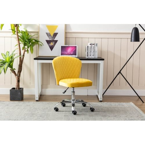Home office Chair ——Computer Chair Task Chair Home Executive Desk Chair Comfortable Swivel Chair and Mid- Back with Wheels (Yell