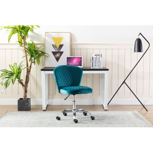 Home office Chair ——Computer Chair Task Chair Home Executive Desk Chair Comfortable Swivel Chair and Mid- Back with Wheels (Teal