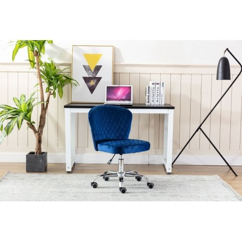 Home office Chair ——Computer Chair Task Chair Home Executive Desk Chair Comfortable Swivel Chair and Mid- Back with Wheels (Navy