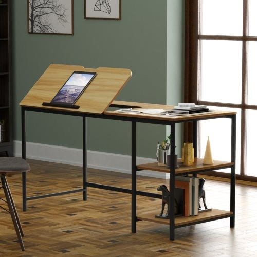 55 inch Multi-function Drafting Table,computer desk,phone,pad,computer 12 different position adjustable stand table Multi-Functi