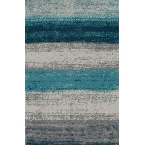 Ombre Area Rug Fading From Light & Dark Blue To Gray