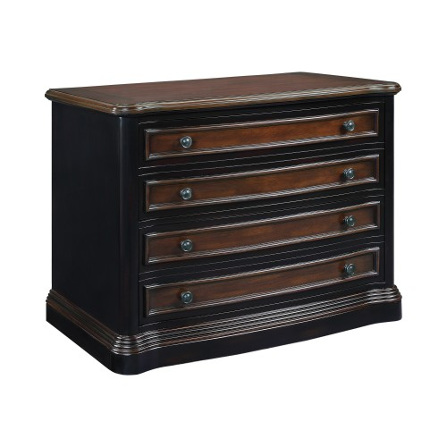 Gorman 2-Drawer File Cabinet Espresso And Chestnut