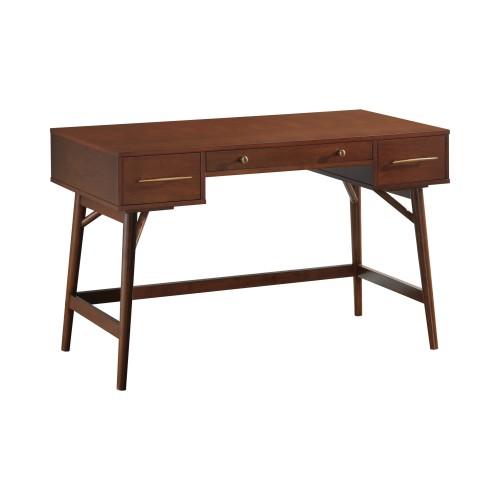 3-Drawer Writing Desk Walnut