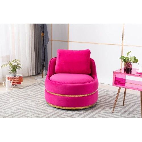 Coolmore Modern Akili swivel accent chair in fuchsia