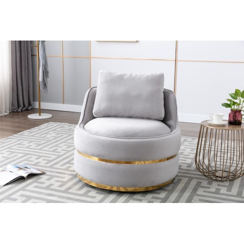 Coolmore Modern Akili swivel accent chair in Gray