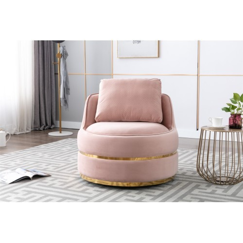 Coolmore Modern Akili swivel accent chair in Pink