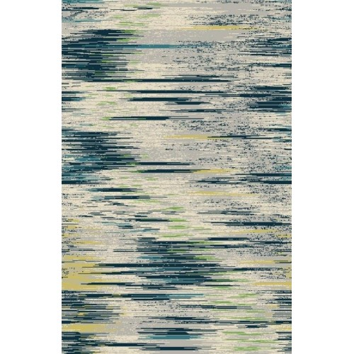 Modern Southwestern Abstract Blue Area Rug
