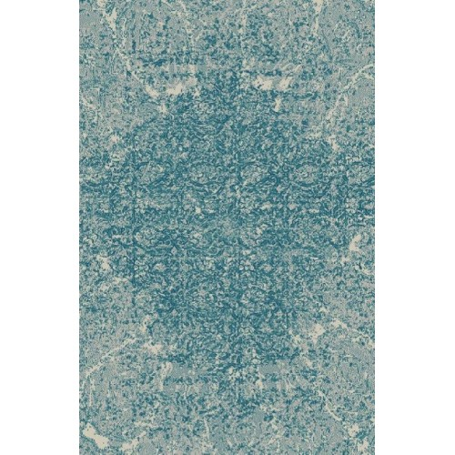Abstract Moroccan Area Rug With Splash Of Blue