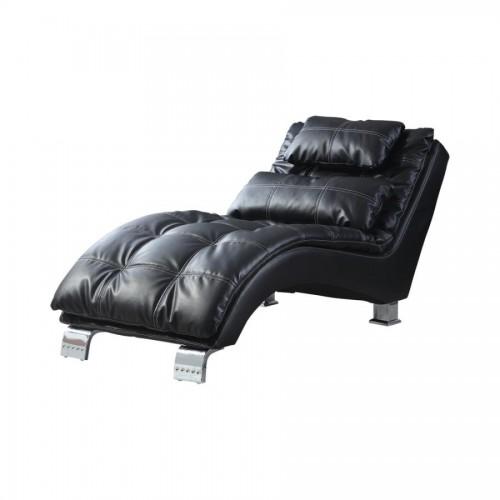 Dilleston Upholstered Chaise Black