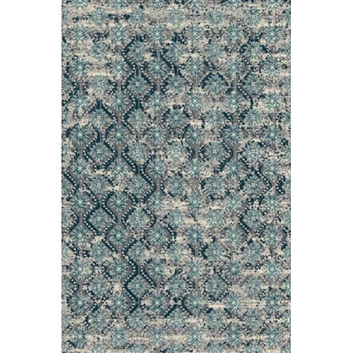 Paisley Area Rug With Rich Blue Middle-Eastern Patterns