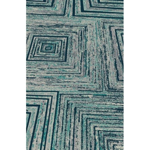 Abstract Geometric Lines & Squares On Fading Beach Marble Sensation