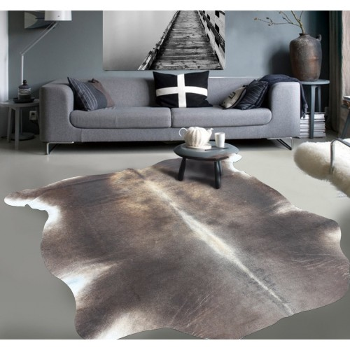 Dark Brown CowHide With White Spots