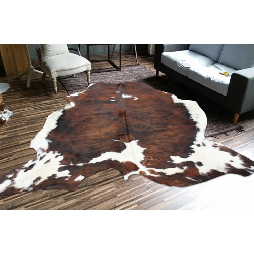 Chocolate CowHide With White Spots