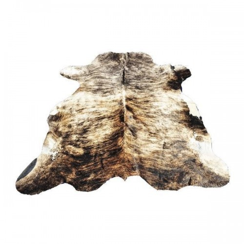 Light Fuzzy Tanned CowHide with White Spots
