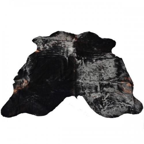 Solid Black CowHide