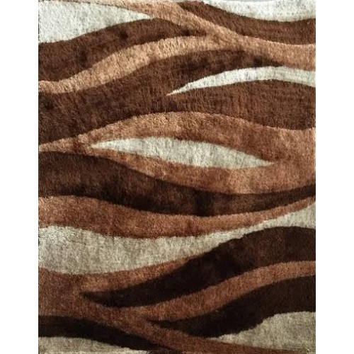Fall Themed Area Rug With Brown Waves