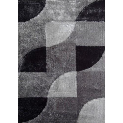 Black & White Area Rug With Organic & Inorganic Shapes