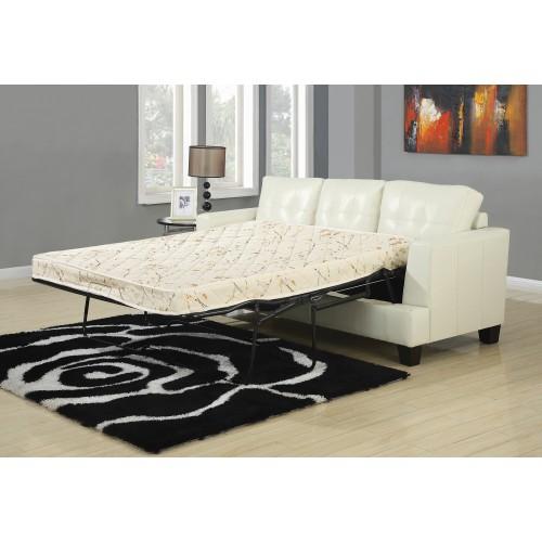 Samuel Upholstered Sleeper Sofa Cream