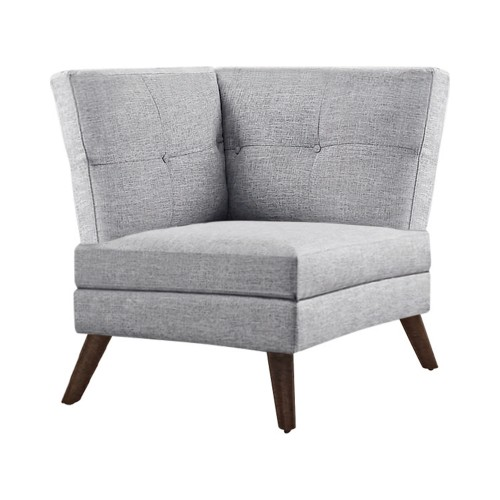 Churchill Button Tufted Corner Sofa Grey
