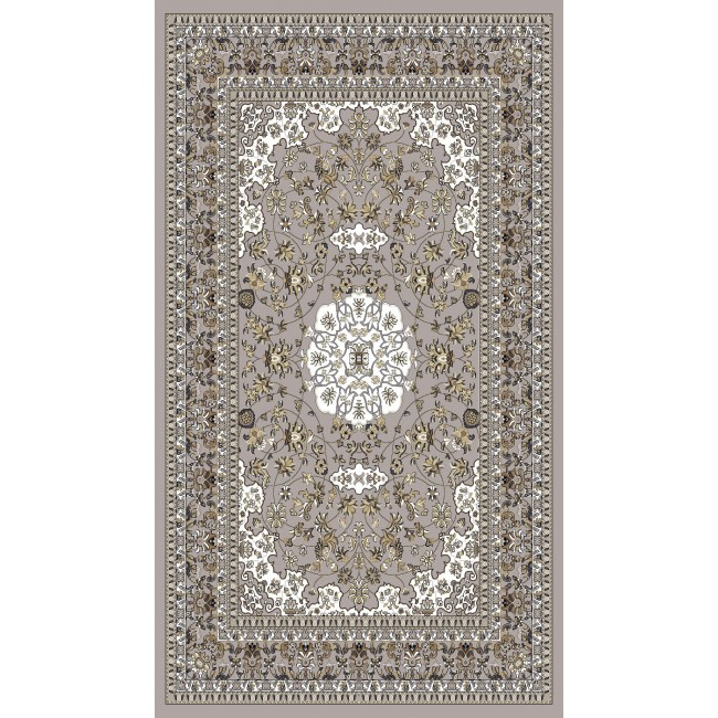 Grey Rug With Middle Eastern Pattern