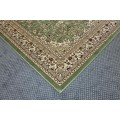 Green Rug With Middle Eastern Pattern
