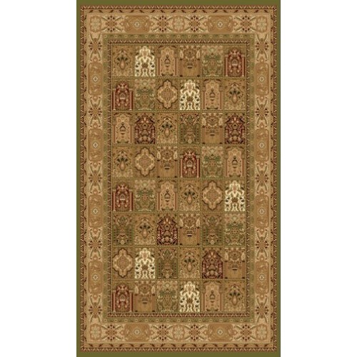 Persian Paisley Area Rug in Green