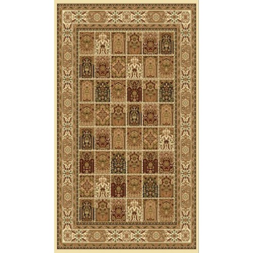 Persian Paisley Area Rug in Ivory