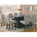 Stanton Upholstered Counter Height Chairs Grey And Black (Set Of 2)