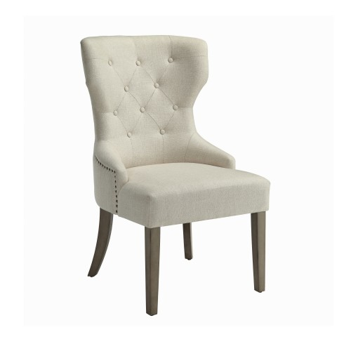 Florence Tufted Upholstered Dining Chair Beige