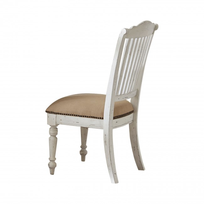 Simpson Slat Back Side Chairs Barley And Vintage White (Set Of 2)