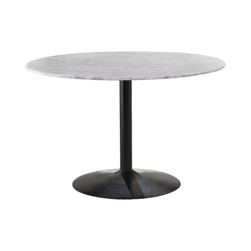 Bartole Round Dining Table White And Matte Black