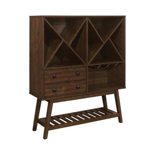 2-Drawer Wine Cabinet Desert Teak