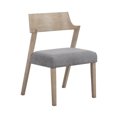 Artesia Open Back Dining Chairs Slate And Grey Oak (Set Of 2)
