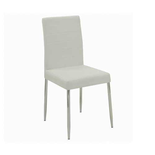 Vance Upholstered Dining Chairs White (Set Of 4)